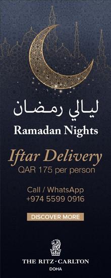 The Ritz Carlton Ramadan Nights Iftar Delivery – April