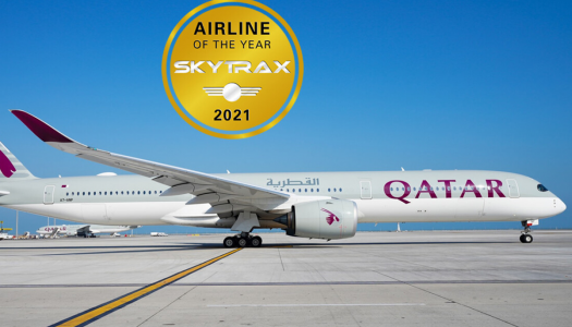 Qatar Airways voted World's Best Airline for the sixth time at the 2021 World Airline Awards